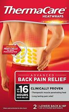 THERMACARE ADVANCED BACK PAIN RELIEF - 2 HEATWRAPS