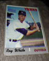 1970 Topps Roy White #373 New York Yankees ERROR BLURRED DOUBLE VISION