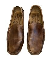 Barneys Driving Loafers New York Men's 10.5 Beige Leather  Italy