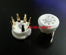 10pc Pcb Mount 7pin Gold plated Ceramic tube socket for Ef95 6X4 6Z4 6C4 Ec92