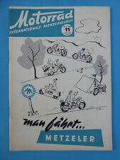 Internat. Fachzeitschrift MOTORRAD 11-1955 Bücker, Delta Gnom , Dürkopp, EMW, FN