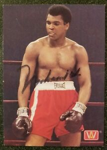 Muhammad Ali signed  Boxing card w/coa