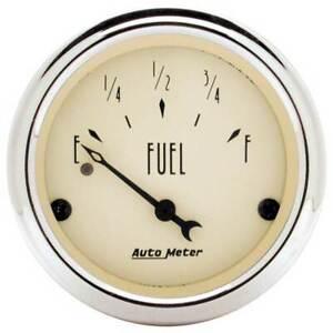"Autometer Antique Beige 2-1/16"" Fuel Level, 0-30 Ohm Gauge for pre-1965 Chevy/GM"
