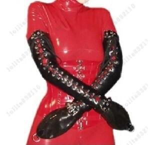 147 Latex Gummi Rubber Gloves Mittens Lace up D-ring customized catsuit 0.7mm