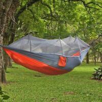 Camping Hängematten Zelt Moskitonetz Set im Freien reisen doppeltes hängend G2G0