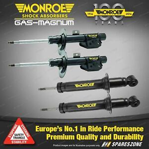 Monroe F + R Gas Magnum Shock Absorbers for Audi Q7 3.0i 3.6i 4.2i 4WD S/Wagon