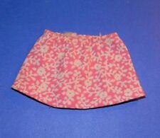 Vintage 1972 Barbie Skipper Flower Power #3373 Pink Floral Print Skirt