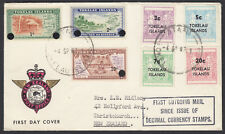 TOKELAU ISLANDS 1967 DECIMALS FIRST OUTGOING MAIL SINCE DECIMAL CURRENCY.