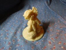 1995 Roman Inc. Angel Being Kissed by Bunny 3 1/4 Inches High