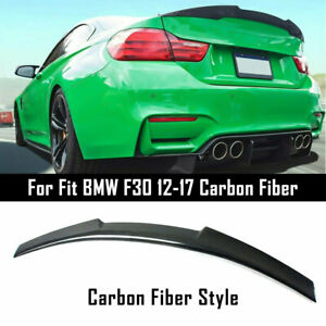 For BMW F30 3 Series 335i 328i 2012-17 Carbon Fiber Look Style M4 Trunk Spoiler