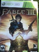 Fable III 3 ( Microsoft Xbox 360, 2010) Complete