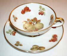 Bavaria Winterling Footed Cup and Saucer - Nuts and Fruit