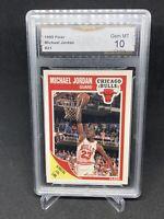 MICHAEL JORDAN 1989-90 Fleer #21 Chicago Bulls GMA 10 GEM MINT. PSA regrade?