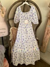LoveShackFancy for Target GEMMA Dress Floral XS 100% Cotton