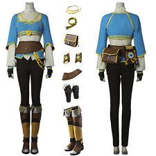 The Legend of Zelda Breath of the Wild Princess Zelda Cosplay Costume Handmade