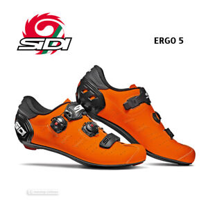 NEW Sidi ERGO 5 Road Cycling Shoes : MATTE ORANGE