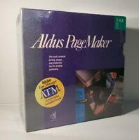 Vintage Software: Aldus PageMaker Version 4.0 Adobe Type Manager 1991 New Sealed