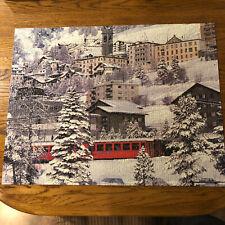 Milton Bradley Big Ben 1000 Piece Puzzle St. Moritz Station, Switerland