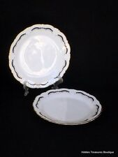 Tirschenreuth Gloriette 2 Bread & Butter Plates Baroness Style Germany Beautiful