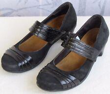 37 US-6 | Naot Black Leather Suede Nubuck Women Mary Jane Pump Low Heel Shoe