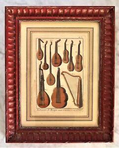 Bernard Direxit Vintage France Ancient String Instruments Print Framed