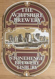 Wiltshire / Stonehenge Brewery Pub Sign - Tisbury - 61 x 40cm - Metal Sign