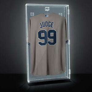 Lux UV Locking Acrylic Wall Mount/Freestanding Jersey Display Case with Lights