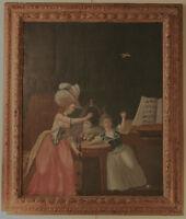 Huile sur toile 18ème siècle/ oil on canvas, 18th century