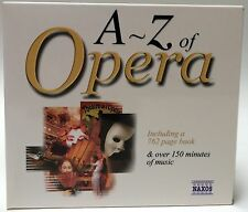 A to Z of Opera 2 CDs Plus 762-Page Illustrated Book W/ Glossary Music Terms Etc