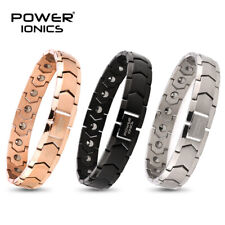Power Ionics 100% Titanium 99.999% Germanium Mens Womens Bracelet Charm Jewelry