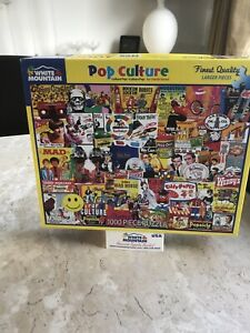 Pop Culture 1000 piece jigsaw puzzle   WHITE MOUNTAIN With Stand 🧩