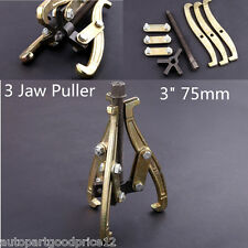 "3"" 75mm 3 Jaw Gear Puller with Reversible Legs for External and Internal Pulling"