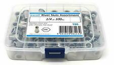 iExcell 100 Pcs 1/4-20Unc Stainless Steel 304 Flat Head Unc Rivet Nuts Threaded