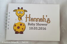 654 48 x READY TO POP Baby Shower Personalised Stickers Giraffe Gift Party Bag