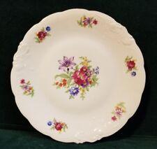 """Wawel MEISSEN FLOWER 10.5"""" Dinner Plate with Gold Trim  M77"""