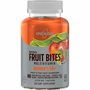One A Day Women?s 50+ Natural Fruit Bites Multivitamin with Immune Health Suppor