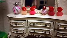 Adorable Mini Dollhouse Hot Colors Vanity Perfume Bottles 6pc Set 1:12