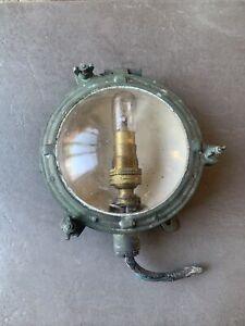 Vintage Brass Port Hole Boat Ships Light