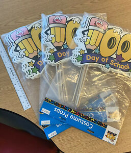 NEW LOT 100th Day Of School Costume Props Valentines Teacher Kid Child Fun Class