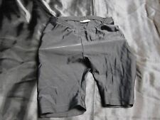 Kipsta Athletic Sliding Shorts kids Size 12 Black Padded Quilted ~ 4476
