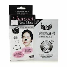 10 pcs Korean Beauty Charcoal Bamboo Nose Cleansing Blackhead Peel Off Mask Pack