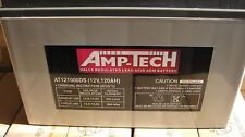 AMP-TECH DEEP CYCLE SEALED 12v BATTERIES AT121000DS 120amp AGM SUPER CHARGE NEW