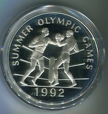 Jamaica 100 Dollars Sommerolympiade Boxen 1992 Silber PP (M5310)