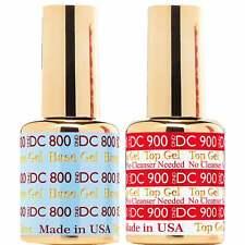 DND UV/LED Gel Polish - Topcoat 900 & Basecoat 800 - 2 x 15ml