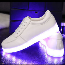 LED Shoes Unisex Luminous Sneakers Glowing Lighted USB Charge Shoes Footwear