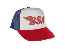 Bsa Motorcycles hat Trucker hat mesh hat adjustable red white blue