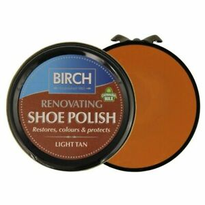 Birch Light Tan Renovating Traditional Shoe Boot Care Polish Smooth Leather Wax