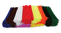 1000 Craft Chenille Stems Pipe Cleaners 10 Colours 15cm By 4mm  Free Delivery