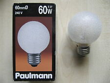 RARITÄT Paulmann Globe E27 60W G60 240V EISKRISTALL Globelampe Eiskristall KLAR