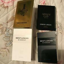 GENTLEMAN Givenchy Paco Rabane Armani Code Georgio Armani 4 samples (NEW)